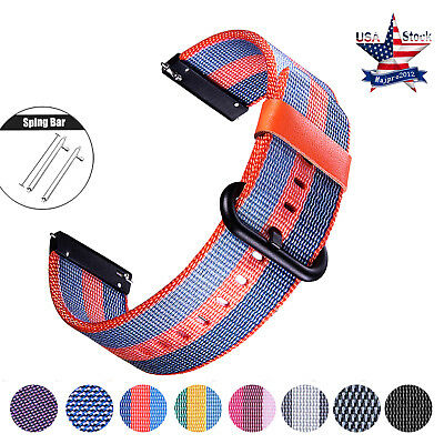 For Samsung Gear S3 Quick Release Nylon Watch Band Gear Sport Wrist Strap 20 22