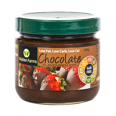 Walden Farms Chocolate Flavoured Dip -Gluten Free Low Carb Low Fat Calorie Diet
