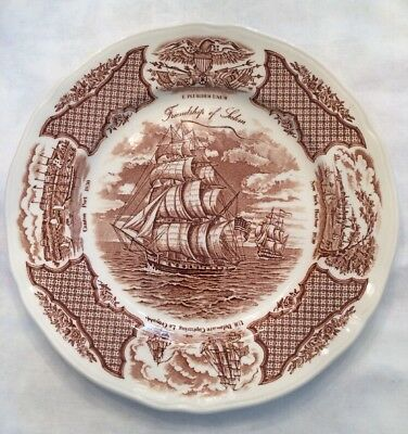 Alfred Meakin Fair Winds The Friendship Of Salem Historical Dinner Plate EUC