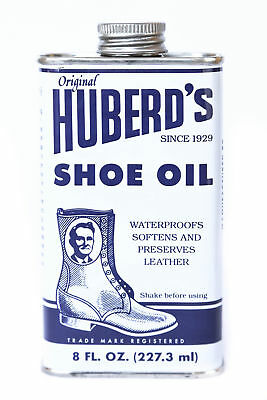 Huberd's Shoe Oil Leather Conditioner Protector 8 oz