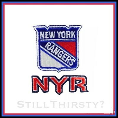 Lot of (2) NYR NY New York Rangers Vintage Embroidered Iron On Patch (NOS)