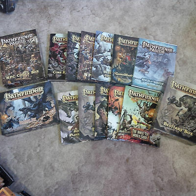 Pathfinder rpg book lot core npc players magic inner sea PLUS NPC Codex box pawn