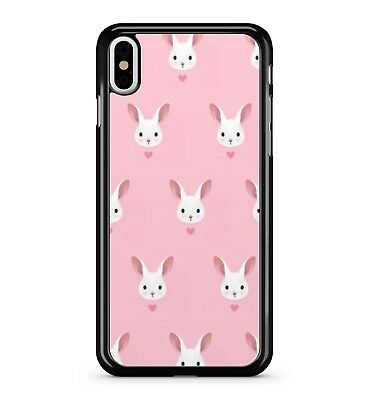Cute Bunny Rabbit Pink Pattern Animal Pets Fluffy Adorable 2D Phone Case Cover