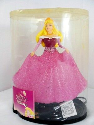 Disney Princess Aurora Lamp Red and Pink Night Light