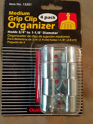 Crawford Products 13201-6 Grip Clip Organizer, Medium, 4-PK