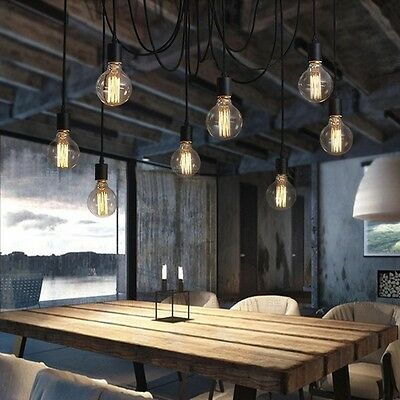 Spider Chandelier with 7 Modern pendant lights - Design Any Color or Style