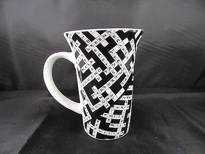 NEW Crossword Puzzle - Paul Cardew 2008 Cafe Coffee Cup Mug Porcelain