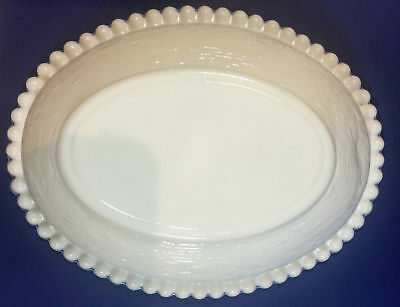 "Vintage Indiana Glass Milk Glass Bowl 7"" x 5.5"""
