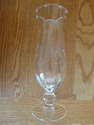 "Princess House Crystal Heritage 10"" Tall Footed Victorian Vase Ruffle Top #438"