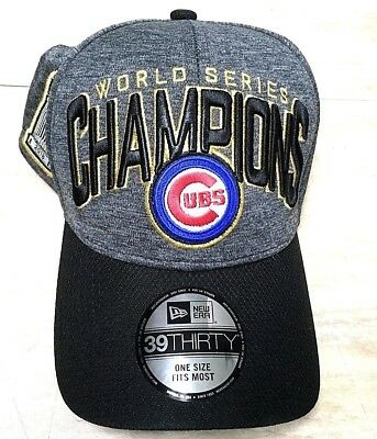 53d28873f60 Chicago Cubs Cap World Series Champions New Era Stretch Fit Hat MLB Champs