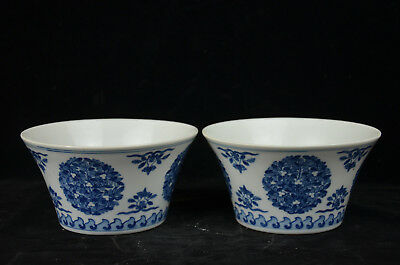 A Pair Fine Beautiful Chinese blue and white porcelain  bowl