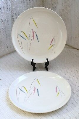 "Paden City PCP279 Preview Bone Ash Mid Century Modern 10 3/8"" Dinner Plates (2)"