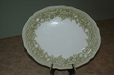 "Royal Staffordshire - J & G Meakin - BOUNTIFUL - Green - 12"" Turkey Ham Platter"