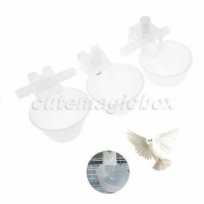 10Pcs Useful Chicken Poultry Automatic Water Drinking Nipple Feeder Cups Drinker