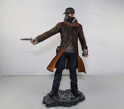 "Watch Dogs Aiden Pearce Action Figure PVC Statue Character Figurine 10"" New Rare"