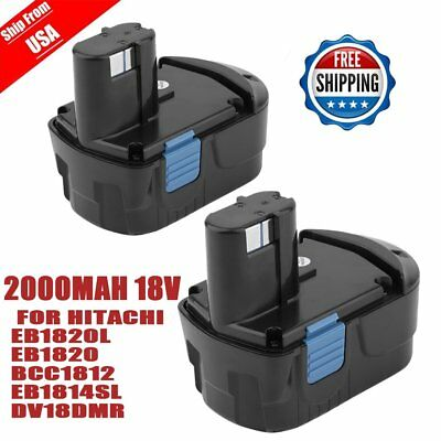 2x 2000mAh 18V Replacement Battery For  EB1820L EB1814SL BCC1812 C18DL BS
