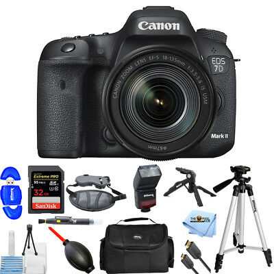 Canon EOS 7D Mark II DSLR Camera with 18-135mm IS USM Lens PRO BUNDLE BRAND NEW