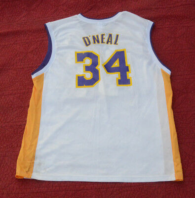 457a557adb6 SHAQUILLE O NEAL LOS Angeles Lakers  34 Nike Size Large + 2 Jersey ...