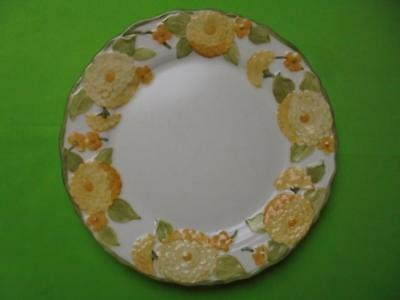"Metlox Poppy Trail Sculptured Zinnia 10-1/2"" Dinner Plate"