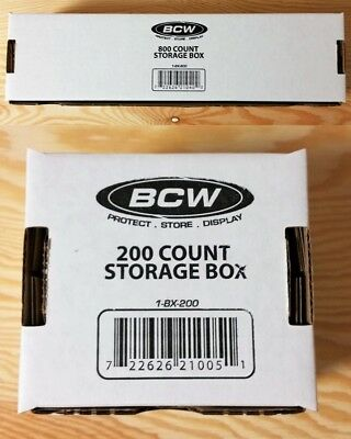 BCW Trading Card Aufbewahrung Storage Box 200 Cards oder 800 Cards