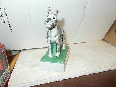 Schnauzer Dog Miniature Bottle - Only 1200 Made - All Numbered - Collector Art