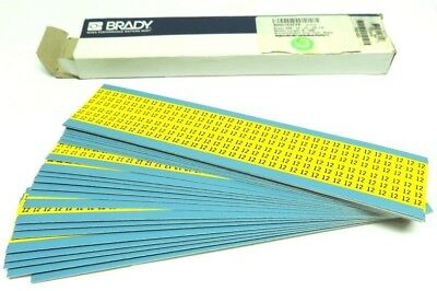 "Number "" 12 "" Bradymarker Labels Wm-12-Yl-Pk Brady Label Wire Markers 900 Labels"