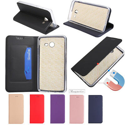 For Samsung Galaxy J3 J5 J7 2016 2017 Magnetic Leather Wallet Flip Case Cover