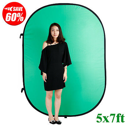 5x7ft Green Screen Collapsible Studio Photography Panel Popup Background W/ Bag#