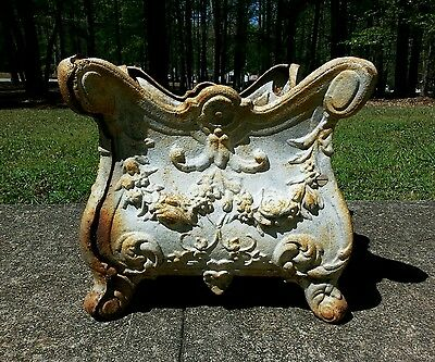 Antique Cast Iron Garden Jardinière Planter  French Rococo Louis XV Style
