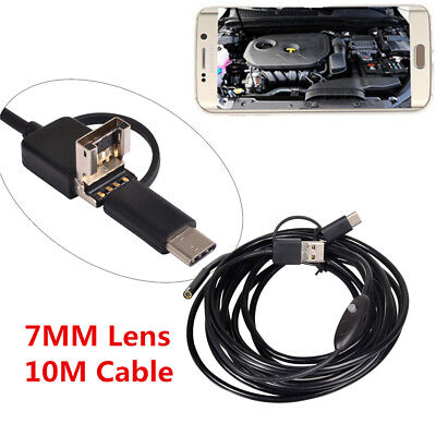 7mm HD Lens Engine Scope Inspection Camera 6LED IP67 for OTG Android USB TYPE-C