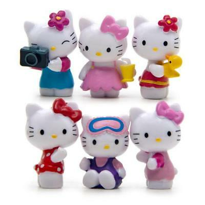 Hello Kitty Mini Figurines Kawaii Cartoon Character Kids Dolls Toys T-1