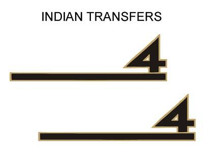 Indian Four 4 Tank Transfer Decal American Motorcycle Sold as a Pair D50918