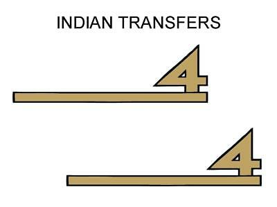Indian 4 Four Tank Transfer Decal American Motorcycle Sold as a Pair D50918A