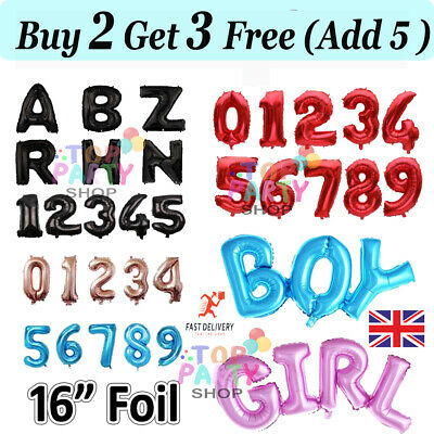16 inch Foil Letter Number Gold Pink A-Z Alphabet Birthday Wedding Party Balloon