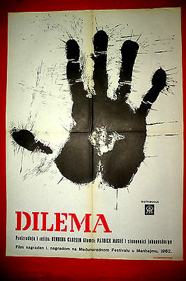 Dilemma 1962 Patric Magee Henning Carlsen  Danish African Rare Exyu Movie Poster
