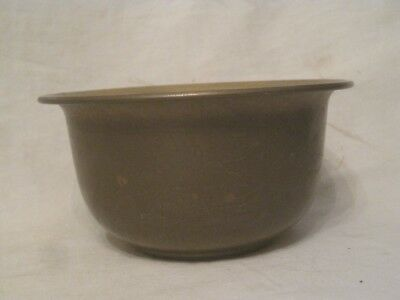 vintage solid brass bowl etched *bamboo ? thin leaves plant detail Hong Kong