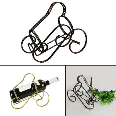 Wine Rack Bottle Holder S-Shape Fine Wire Classic Style Frame Twisting Line Gift