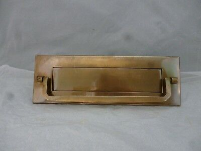 "VINTAGE 1930 40's art deco BRONZE LETTER BOX & DOOR KNOCKER 10.5"" wide with nuts"