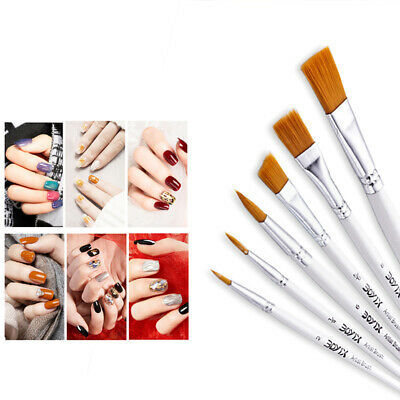 Professional Painting 6pcs Acrylic Oil Watercolors Artist Paint Brushes