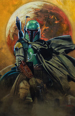 Star Wars Boba Fett Original Art Print by artist Scott Harben