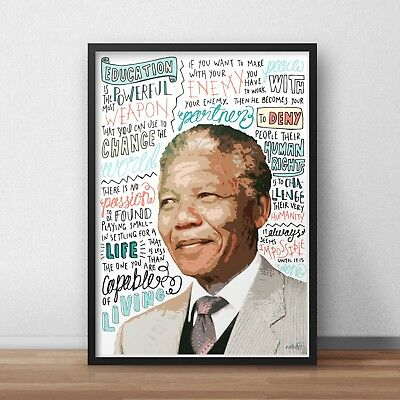 Nelson Mandela INSPIRED WALL ART Print / Poster A4 A3 / Inspirational Quotes