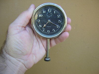 Vintage Elgin Car Automobile Long Stemmed 8 Day Clock Elgin National Watch USA