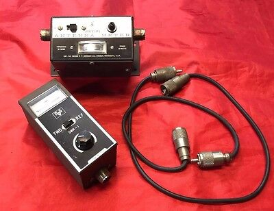 Johnson cb radio Parts Antenna Meter Vanco SWR-1 and cables Lot