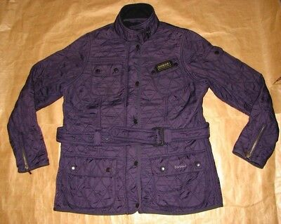 Barbour Small Jacket Polar Quilted Mens Purple International Rare Vintage M