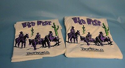 "2  ""Wild West""  Trop World Casino & Entertainment Resort T Shirts   Size XL"