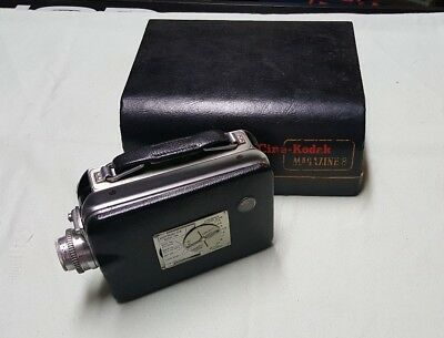 Vintage 8mm CINE-KODAK MAGAZINE 8 Movie Camera 1946-55 With Case