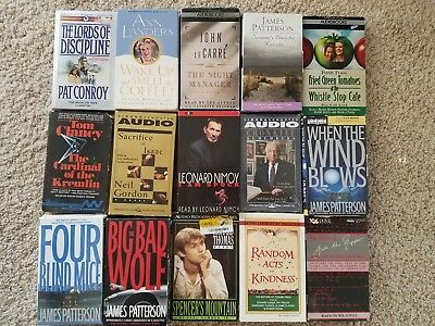 Lot Of 24 Books On Cassette - Audiobooks - Wide Variety - All Shown