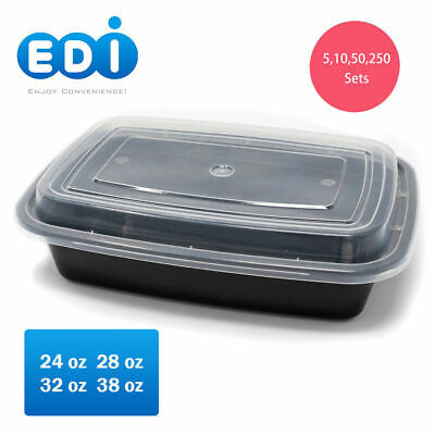 EDI Premium Food Containers with Lids, Reusable Microwaveable Plastic BPA free