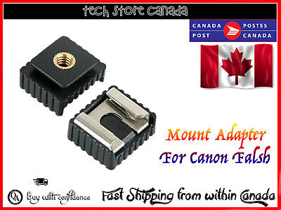 "1/4"" Screw Hole Cold Foot To Hot Shoe Mount Adapter For Canon Speedlite Flash"