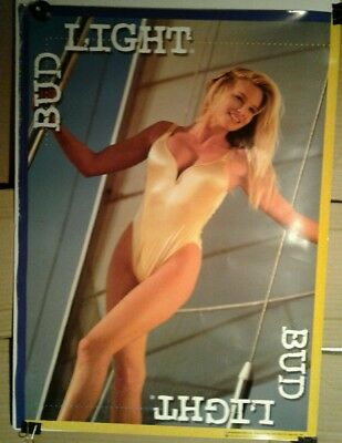 """1996 Bud Light """"Girl in yellow one piece swimsuit"""" poster"""